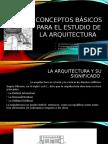 Conceptos Básicos para el Estudio de la Arquitectura I