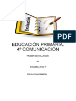 EVALUACIÓN DE 4°, 5° Y 6° GRADO DE ED. PRIMARIA (COMUNICACIÓN Y MATEMÁTICA)