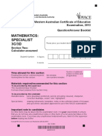 Maths Specialist 3C3D Calc Assumed Exam 2013