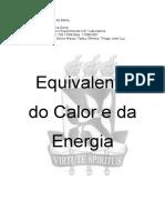 Relatório Física II - Equivalente Calor e Energia