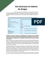 Legislación Mexicana en Materia de Drogas