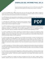 Conclusiones Generales Del Informe Final de La Cvr