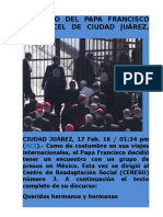Discurso Del Papa Francisco en Cárcel de Ciudad Juárez
