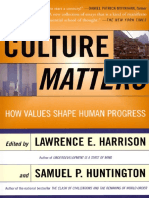 Culture Matters How Values Shape Human Progress