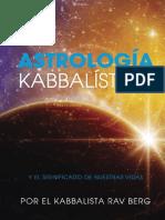 Astrologia Kabbalistica.  Kabbalista Rav Berg