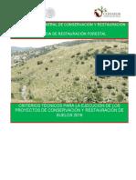 Criterios Técnicos Para La Ejecución de Los Proyectos de Conservación y Restauración de Suelos 2016