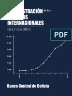 BOLIVIA - Administracion de Las Reservas Internacionales - Gestion 2010