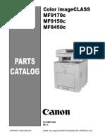 Canon MF9100 8450c Parts Catalog