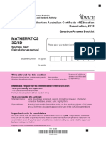 Mathematics Stage 3C 3D Calc Assumed Exam 2013