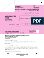 Mathematics Stage 3C 3D Calc Free 2013 Exam