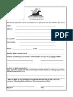 SLVDC Membership Application
