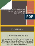 Tuesday Bible Teaching the 6Ts of Stewardship