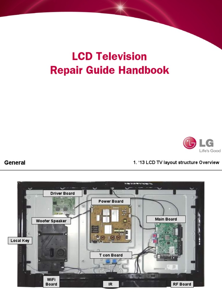 LCD TV Repair Guide Handbook_140211_v1 | Thin Film Transistor Liquid  Crystal Display | Television