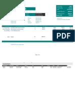 Travel Service Invoice Template