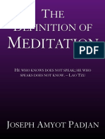 The Definition of Meditation