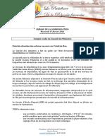 Compte Rendu - - Conseil Des Ministres Du 17 Février 2016