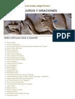 Biblioteca Gnostica v.M Conjuros y Oraciones