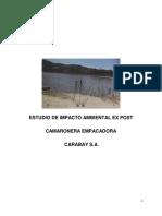 Estudio de Impacto Ambiental Ex Post