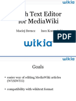 Rich Text Editor for MediaWiki (Berlin, April 2010)