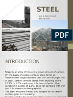 Steel as a building material