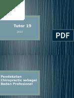 Tutor 19 BHP VI - Chiropractic