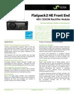 Datasheet - Flatpack2 HE Front End Rectifier