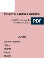 Relational Database Elements(1)