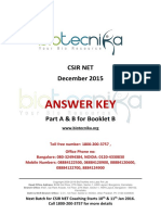 Csir Net Dec 2015 Ls Answer Key