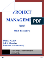 Semester III Assgn I Project Management