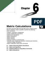 Chapter 6 Matrix Calculations