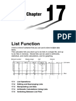 Chapter 17 List Function