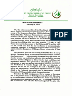 MILF Statement on the Non-passage of BBL