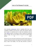 20 Reasons to Eat Banana Everyday