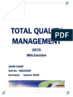 Semester III Assgn I Total Quality Management