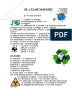 Vocabulaire Environnement
