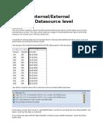 Datasource Options of Internal or External
