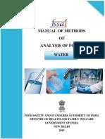 Water manual for FSSAI