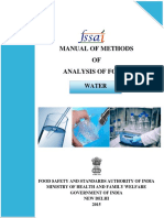 Water manual for FSSAI