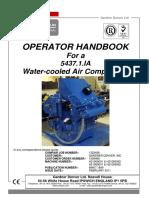 ASC 100-D CompAir 5437 Air Compressor Operator Handbook