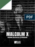 Malcolm X, Discours aux Cités de la République