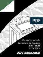 Manual Lavadora Continental Lvct1523