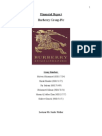 Financial Reporting of Burberry