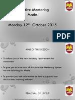 Assertive Mentoring - Maths Presentation