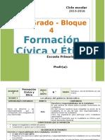 PlaPlann 6to Grado - Bloque 4 Formación CyE (2015-2016)