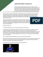 Tips Mencari Agen Judi Bola Online Terpercaya
