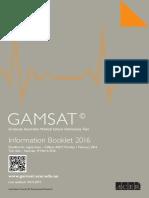 GAMSAT Info Booklet 2016