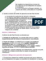 REAL DECRETO 488 1997, De 14 de Abril, Sobre Disposiciones Mínimas De