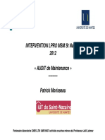 Audit de Maintenance Part1 2012-2013