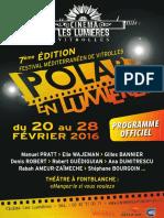 Programme PEL 2016