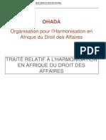 TRAITE OHADA PORTANT HARMONISATION DE DROIT DES AFFAIRES EN AFRIQUE